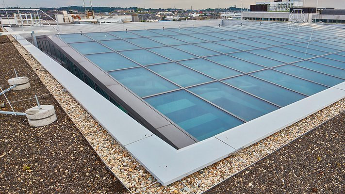LAMILUX Glass Roof PR60 Passivhaus - Post Mercier Luxemburg