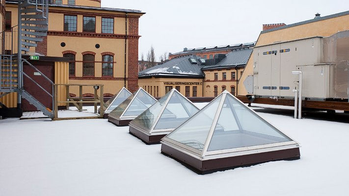 LAMILUX Glass Skylight Pyramide / Hipped- School Norrkoeping