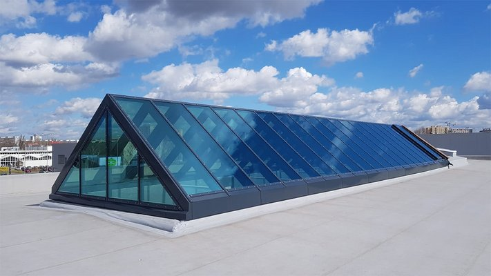 LAMILUX Glass Roof PR60 - Customs Office Pardubitz, Czech Republic