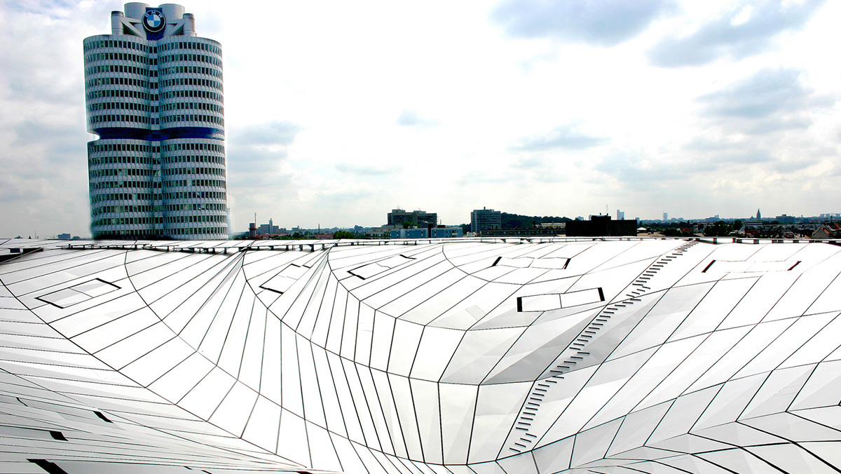 LAMILUX Glass Roof PR60 at the High-rise building of BMW in Munich (Germany)