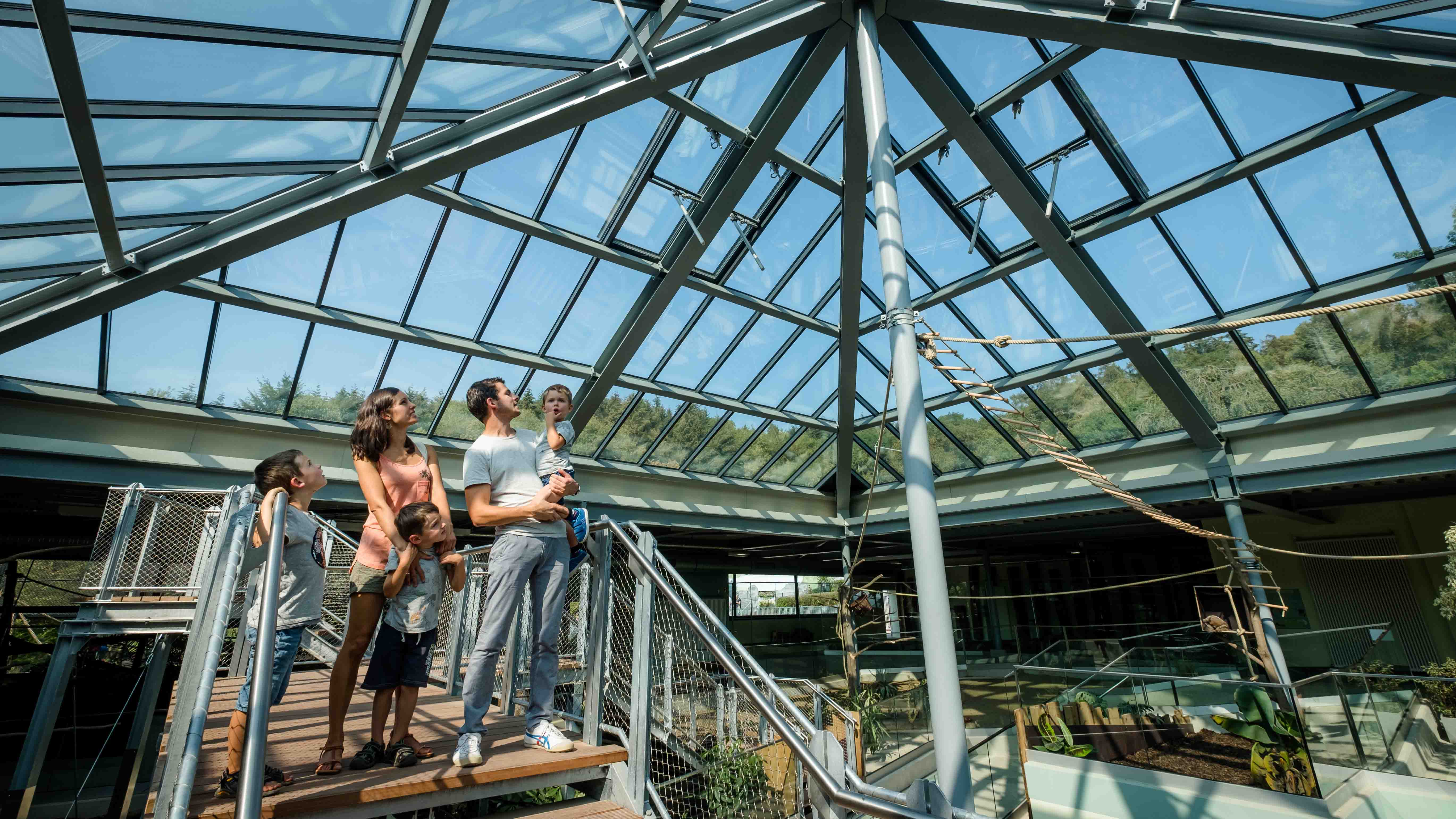 LAMILUX Glass Roof PR60 at the Zoo in Neuwied (Germany)