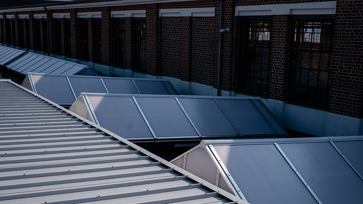 LAMILUX Continuous Rooflight S at the Former Production Facility in Wurzen (Germany)
