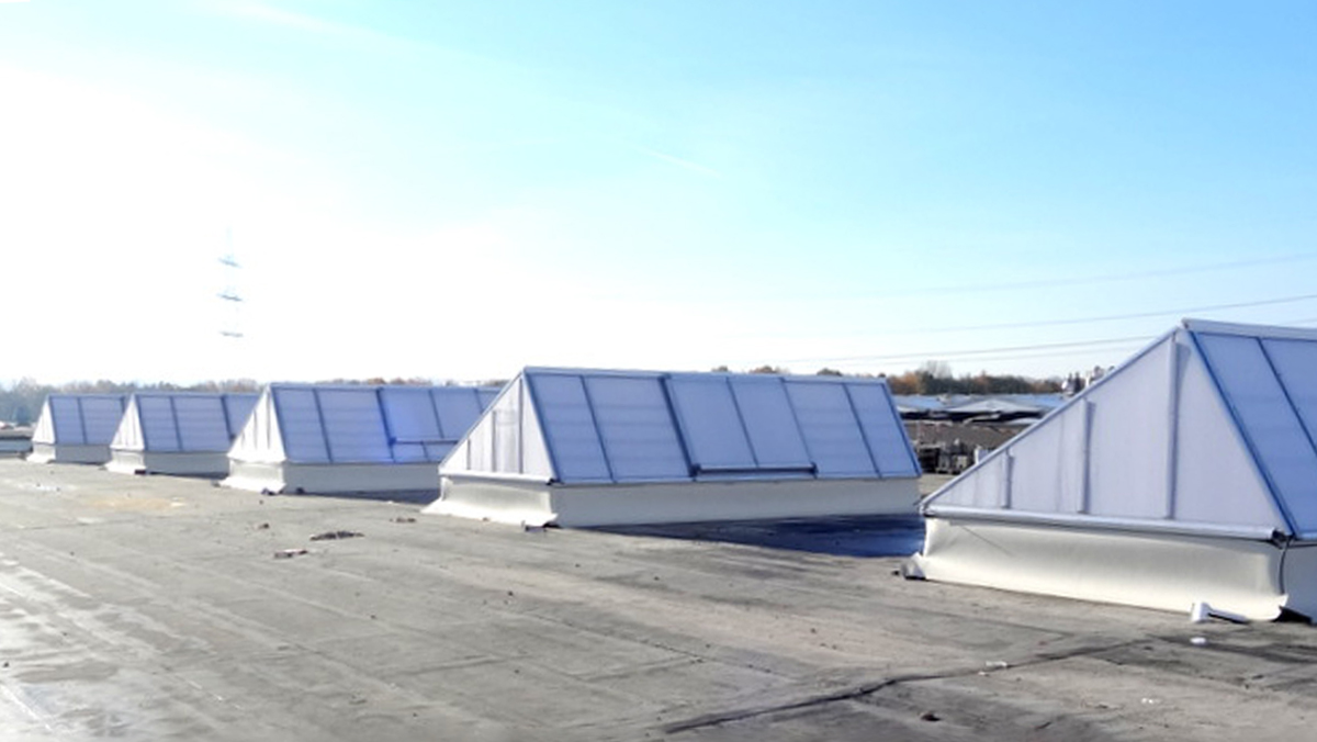LAMILUX Continuous Rooflight S at the Chocolate Factory Murdotec in Dortmund